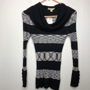 NWT It's Our Time cowl neck top.Striped.Size small